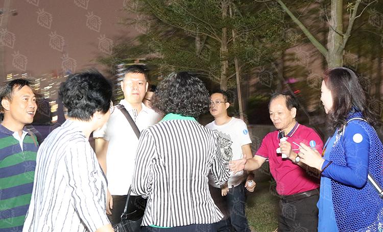 """""""联合国糖尿病日""""活动主题开展的""""蓝光行动""""在广州地标""""小蛮腰""""启动"""