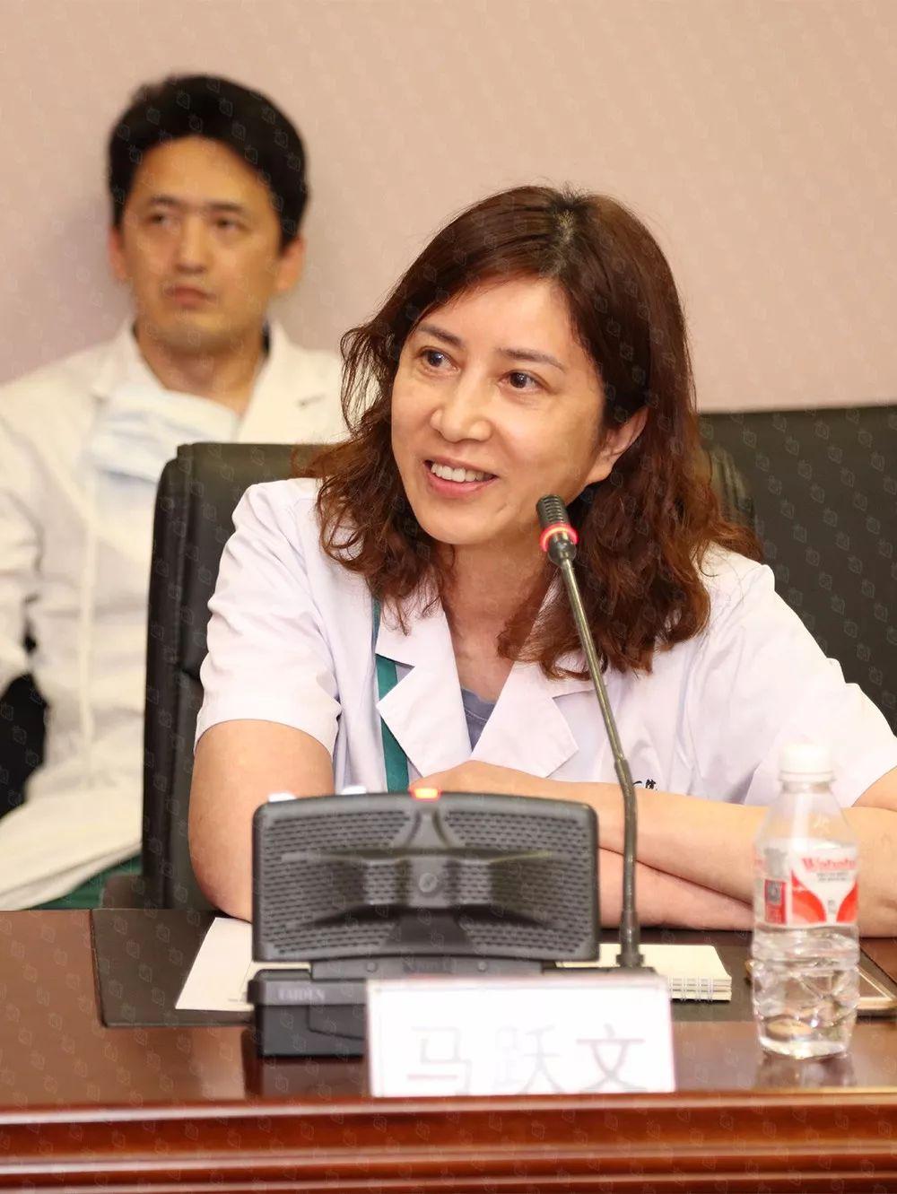中国医科大学附属第一医院康复科主任马跃文教授发言。